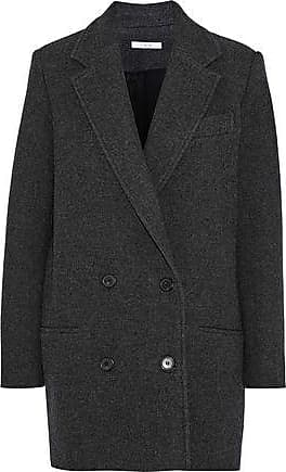 Iro Iro Woman Kalso Double-breasted Wool-blend Twill Coat Anthracite Size 40