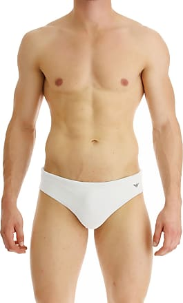 Emporio Armani Swim Briefs for Men On Sale, White, polyamide, 2017, L XL