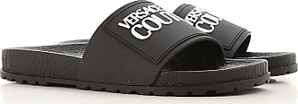 Versace Jeans Couture Sandals for Men On Sale, Black, Rubber, 2019, 10.5 6.5 7 8 9 9.5