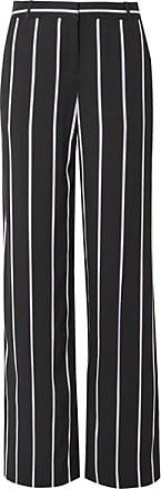 Equipment Arwen Striped Twill Wide-leg Pants - Black
