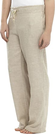 Tom Franks Ladies Women Full Length Two Tone Linen Trousers with Elasticated Waist, Size 10
