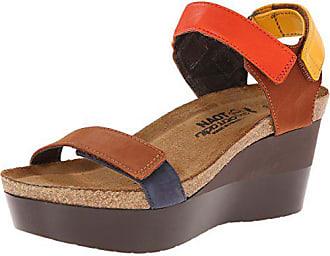 Naot Naot Womens Miracle Wedge Sandal, Brown, 41 EU/10 M US