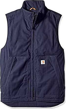 Carhartt Work in Progress Mens Big Big & Tall Flame Resistant Quick Duck Vest, Dark Navy, X-Large/Tall