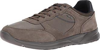 Geox Mens Damian 5 Fashion Sneaker, Taupe, 45 EU/12 M US