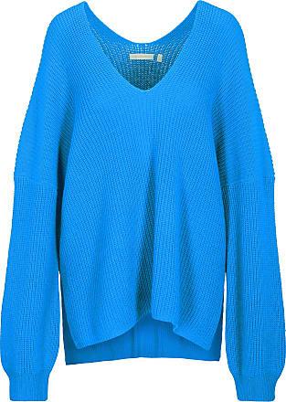 (The Mercer) N.Y. V-Pullover im Oversize-Style - blau
