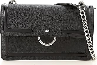 Pinko Shoulder Bag for Women On Sale, Black, Leather, 2017, one size