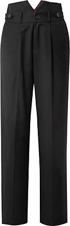 Fleur du Mal Woven Wide-leg Pants - Black