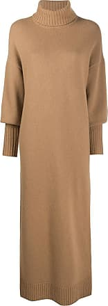 Opening Ceremony two-tone knitted turtleneck dress - Brown