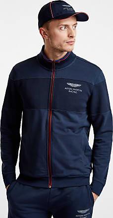 Aston Martin Jersey-Pullover Mit Reißverschluss | Größe Klein | Navy | Herren