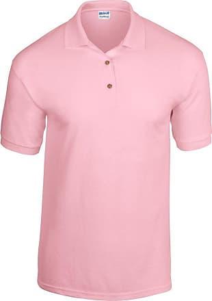 Gildan Mens DryBlend Adult Jersey Polo Shirt Light Pink Medium