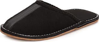 Ladeheid Men´s Felt Slippers Shoes Flipflops LABR164 (Black, 10.5 UK)