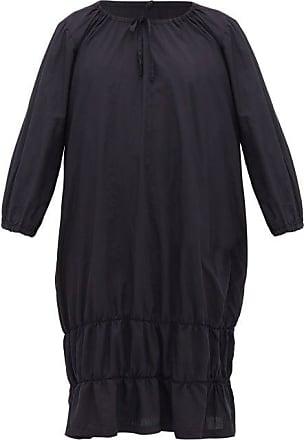 Comme Des Garçons Comme Des Garçons Girl - Ruched-hem Poplin Dress - Womens - Navy