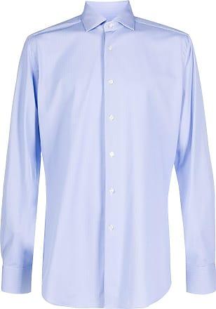 Xacus chevron-print shirt - Blue