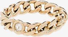 Zoë Chicco Womens Yellow Gold Zchicco 14k Yg Crb Chain Dia Rng