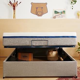 Tediber lIncroyable Sommier Coffre - Ajoutez un matelas double et la tête de lit est offerte! Fabriqué en France +de 26 000 clients ravis