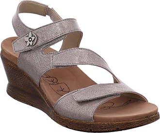 b645ab79f1ec Romika Womens Nevis 07 Triple Velcro Sling Back Sandal 20307 49 730 EU 38