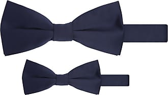 Jacob Alexander Matching Father Son Mens Boys Bow Tie Set - Navy Blue