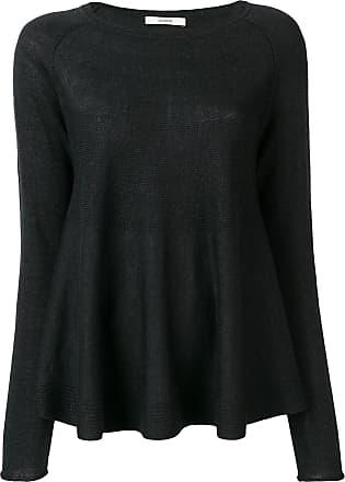 Odeeh Suéter peplum de tricô - Preto