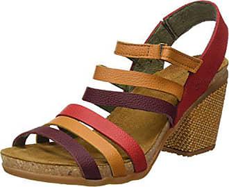 El Naturalista Womens N5030 Soft Grain Grosella Mixed/Mola Heeled Sandal, 36 Medium EU (6 US)