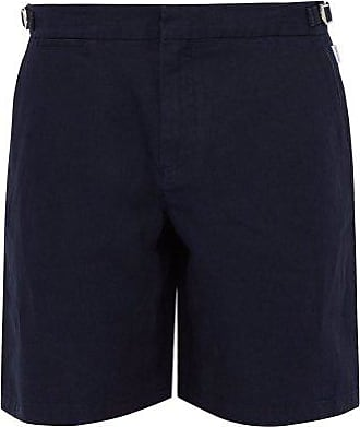 Orlebar Brown Norwich Linen Shorts - Mens - Navy
