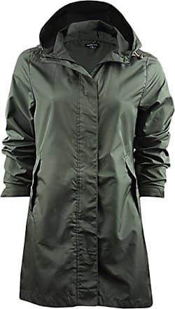 Love my Fashions Ladies Bravesoul Raver Lightweight Foldaway Hooded Raincoat Jacket Khaki