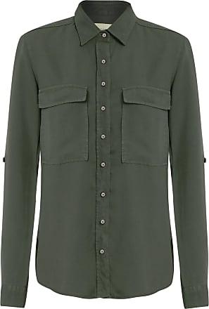 Dudalina Camisa Sarja Bolsos Frontais - Verde