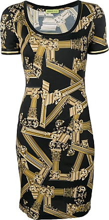 25ed53bc06c Versace Jeans Couture column print fitted dress - Black