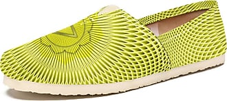 Tizorax Yellow Pattern Art Visual Mens Slip on Loafers Casual Canvas Shoe Flat Boat Shoes