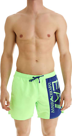 Emporio Armani Swim Shorts Trunks for Men On Sale, Fluo Green, polyester, 2017, S (EU 46) M (EU 48) L (EU 50)