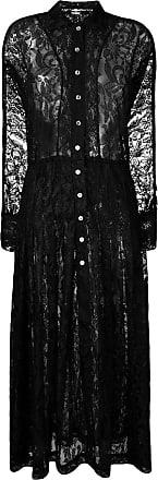 Dodo Bar Or Vestido Anabelle com renda - Preto