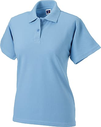 Russell Athletic Russell Europe Womens/Ladies Classic Cotton Short Sleeve Polo Shirt (M) (Sky)
