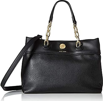 Anne Klein Womens Chain Satchel, Black