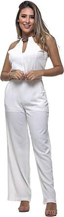 Clara Arruda Macacão Clara Arruda Colar Decote 14006 - G - Off White