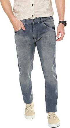 Fatal Surf Calça Jeans Fatal Surf Slim Detalhe Bolso Azul