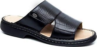 Generico Sandália anti-stress, masculina, super confort, em legitimo couro mestiço(pelica), forrada em napa couro espumada, solado de borracha (PU) modelo 2191