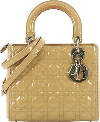 Dior Lady Dior Handbag Cannage Quilt Patent Medium 50a7d500b6525
