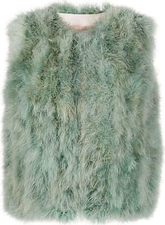 Yves Salomon feather gilet jacket - Blue
