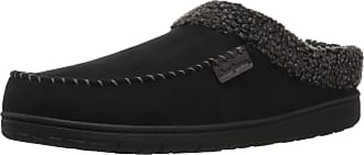 Dearfoams Mens MFS Clog w/Whipstitch & MF Slipper, Black, XL Regular US