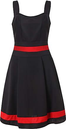 NPRADLA Dresses for Women Summer Vintage Plus Size Mini Dresses Evening Party Dress Tops Blouses Black