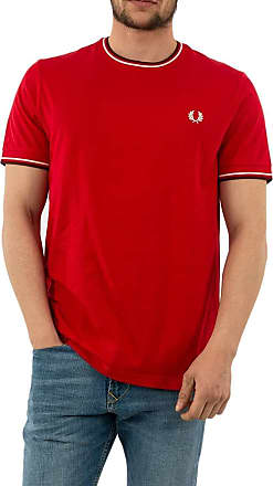 Fred Perry FP Twin Tipped Mens T-Shirt - Red - Small