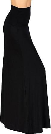 iLoveSIA Womens Bodycon Long Stretch Skirt Jersey Summer Maxi Dress Black UK Size 10-12