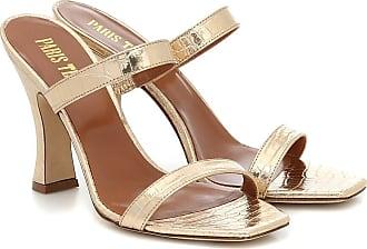 PARIS TEXAS Croc-effect leather sandals