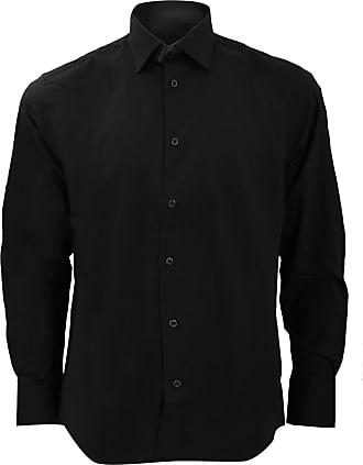 Russell Athletic Russell Collection Mens Long Sleeve Easy Care Fitted Shirt (18.5) (Black)