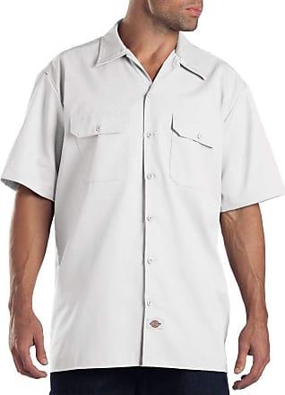 Dickies Mens Work Shirt Short Sleeved Workwear, White, XX-Large