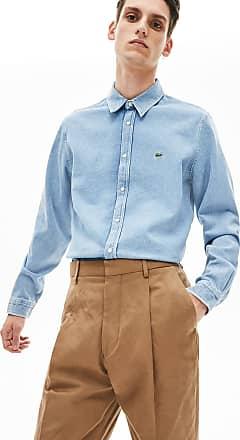 Lacoste Lacoste Mens Snap Button Denim Shirt : Blue