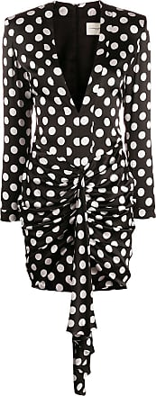 Giuseppe Di Morabito polka dot plunge mini dress - Preto