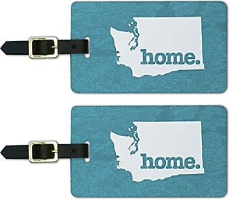 Graphics & More Graphics & More Washington Wa Home State Luggage Suitcase Id Tags-Textured Robin Egg Blue, White