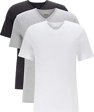 BOSS Hugo Boss mens t-shirt, pack of 3, regular fit, v-neck, assorted, XL