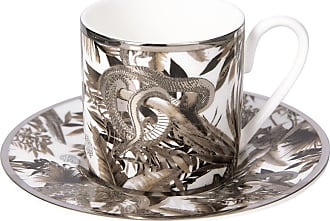 Roberto Cavalli Tropical Jungle Espresso Cup & Saucer - White