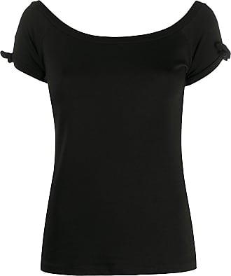 Snobby Sheep Camiseta com amarração no ombro - Preto